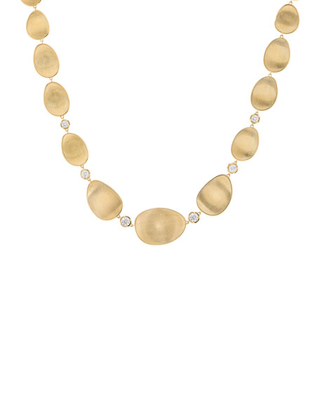 Marco Bicego 18k Lunaria Elevated Necklace w/ Diamonds