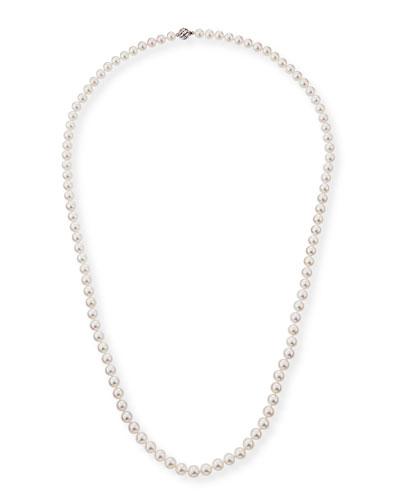 18k Single-Strand Akoya Pearl Necklace, 8.5mm