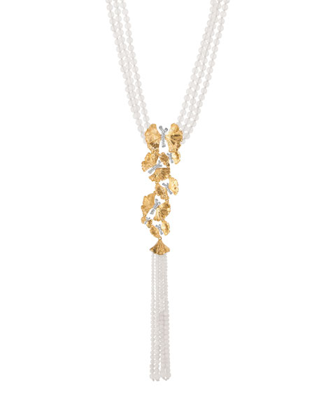 Michael Aram Butterfly Ginkgo Silver & Gold Lariat