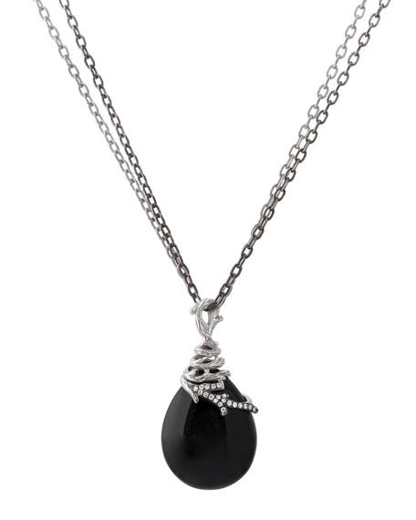 Enchanted Forest Wrap Necklace w/ Onyx & Diamonds