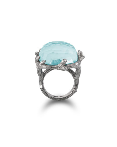 Enchanted Forest Turquoise & Diamond Ring
