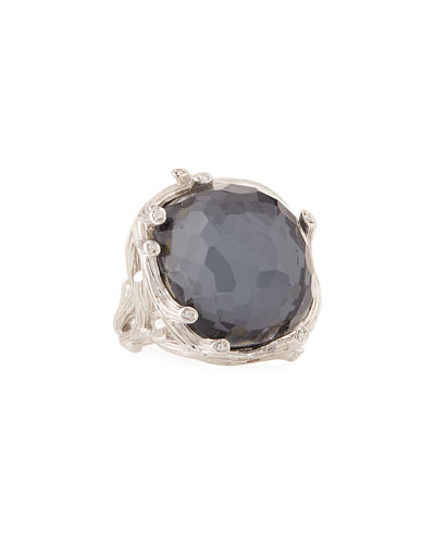 Enchanted Forest Hematite & Diamond Ring