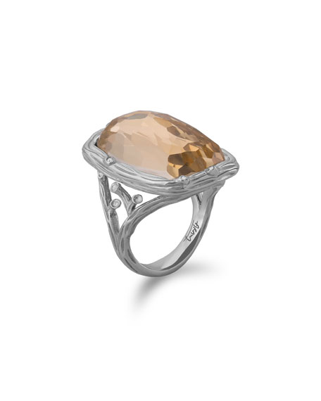 Enchanted Forest Ring w/ 18k Crystal