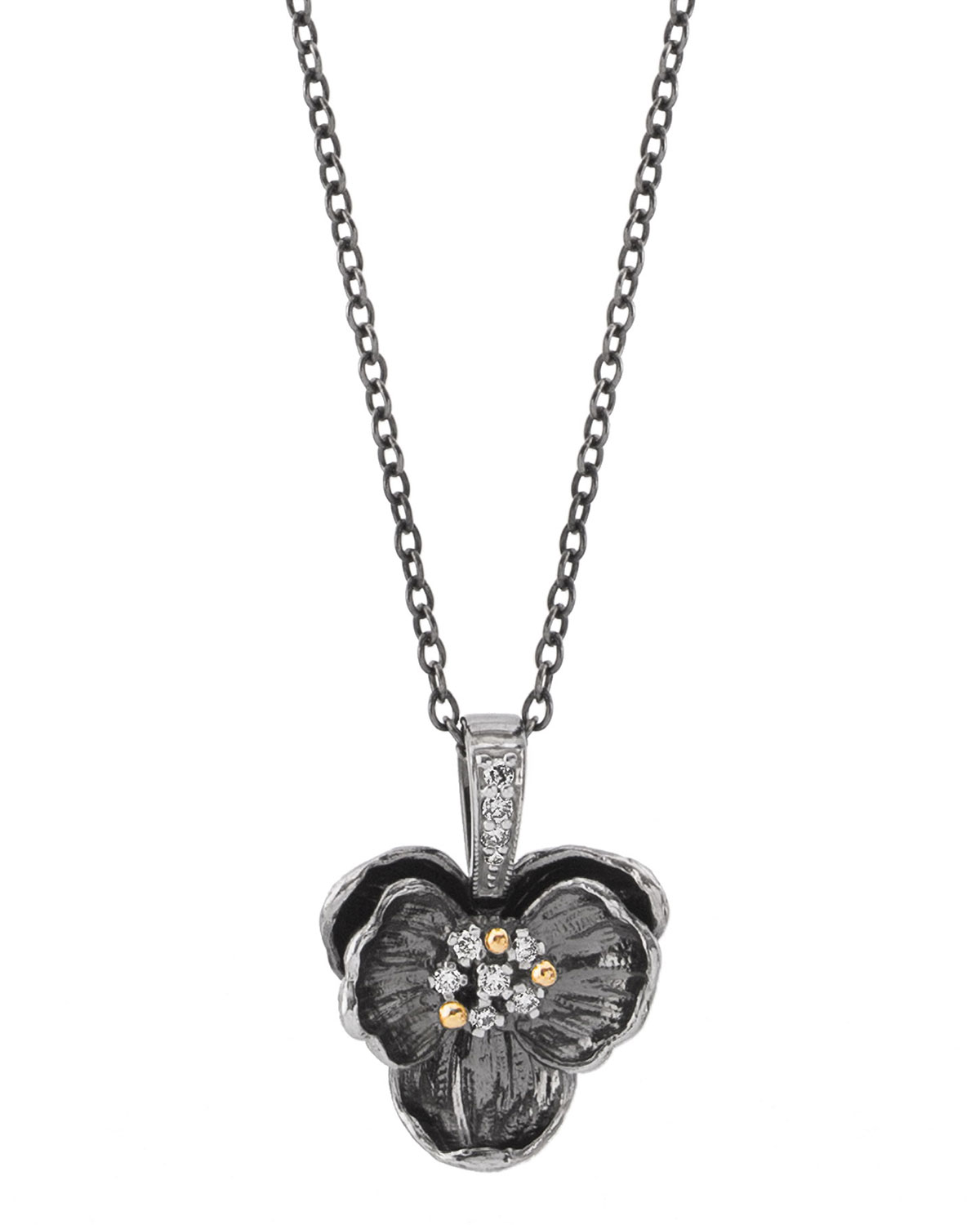 Orchid Trellis New Diamontrigue Jewelry: Michael Aram Black Medium Orchid Pendant Necklace W