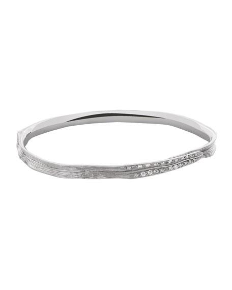Sterling Silver Palm Diamond Bracelet