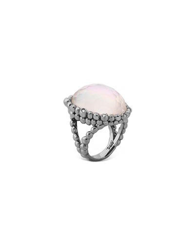 Molten Pear Ring w/ Mother-of-Pearl