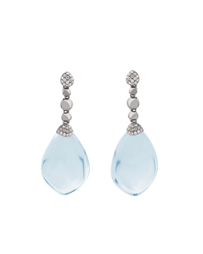 Molten Drop Earrings w/ Blue Topaz