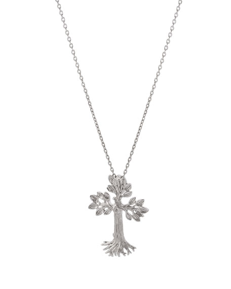 Armenian Tree of Life Cross Pendant Necklace in Sterling Silver