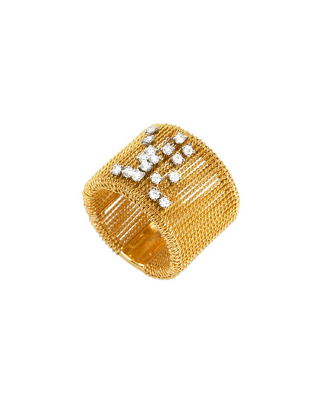 18k Gold Renaissance Dancing Diamond Ring