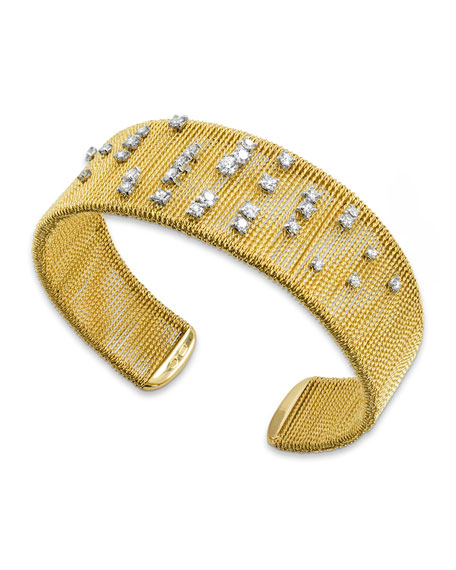 18k Gold Renaissance Dancing Diamond Cuff Bracelet