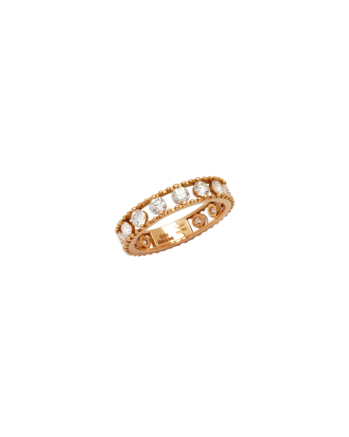 Staurino Fratelli Moresca Armor 18k Rose Gold & Diamond Long Hinged Ring Il4xEJL1fm