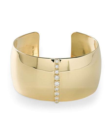 Stardust 18k Gold Cuff Bracelet with Diamonds