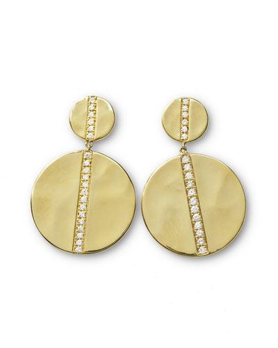 18K Gold Senso&#153 Large Snowman Earrings with Diamonds