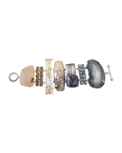 One-of-a-Kind Multihued Stone Bracelet