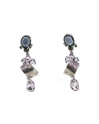 One-of-a-Kind Multi-Stone Drop Earrings