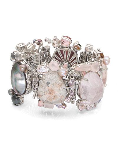 One-of-a-Kind Pink & Gray Stone Bracelet