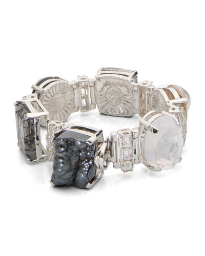 One-of-a-Kind Black & White Stone Bracelet