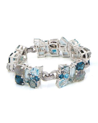 One-of-a-Kind Gray & Blue Stone Bracelet