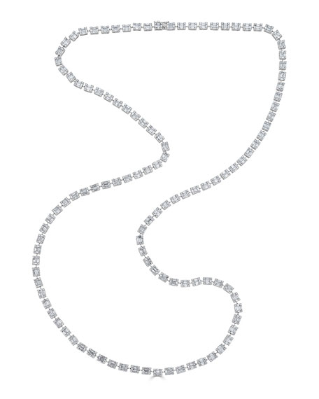18k Mosaic Diamond Station Necklace