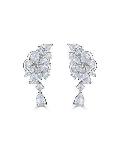 18k Luminal Mixed Diamond Dangle Earrings