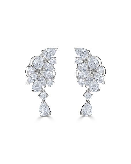 18k Luminal Mixed Diamond Dangle Earrings