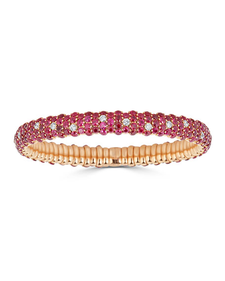 18k Stretch Ruby & Diamond Bracelet