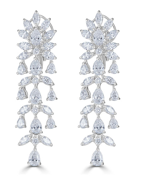 18k Luminal Diamond Cascade Earrings