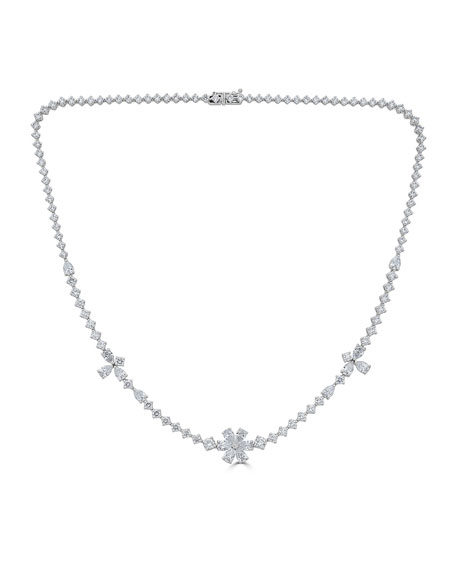 18k Luminal Mixed Diamond Necklace