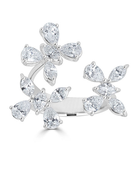 18k Luminal Diamond Butterfly Open Ring