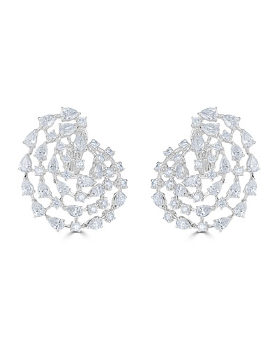 18k Luminal Diamond Spiral Earrings