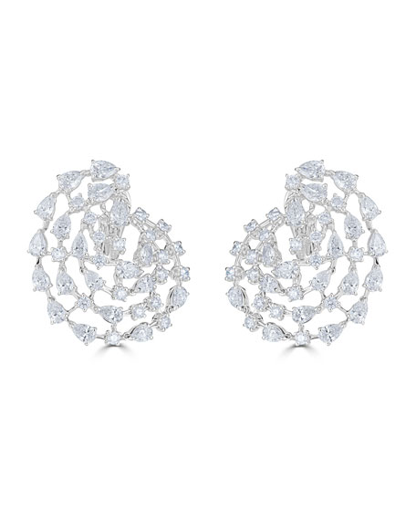 18k Luminal Diamond Spiral Earrings