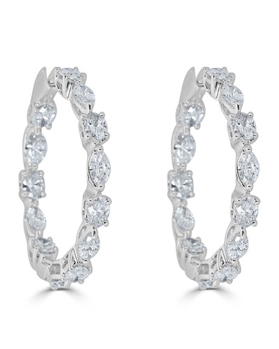 18k Luminal Diamond Hoop Earrings
