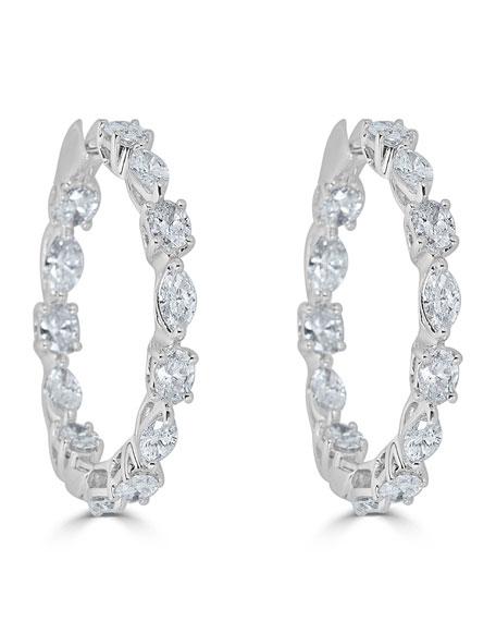 18k Luminal Diamond Hoop Earrings