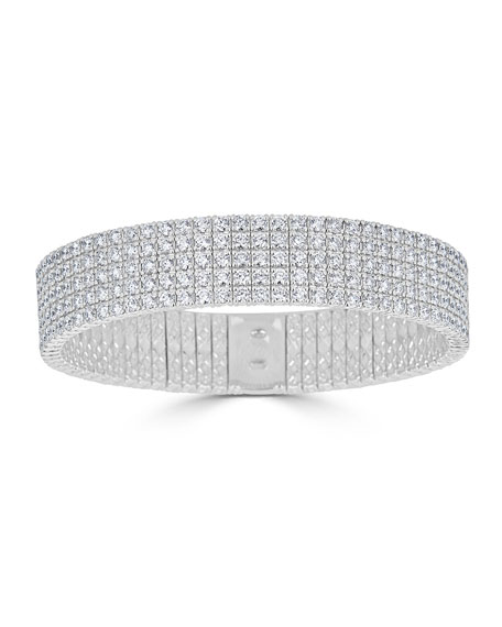 18k Wide Stretch Diamond Bracelet