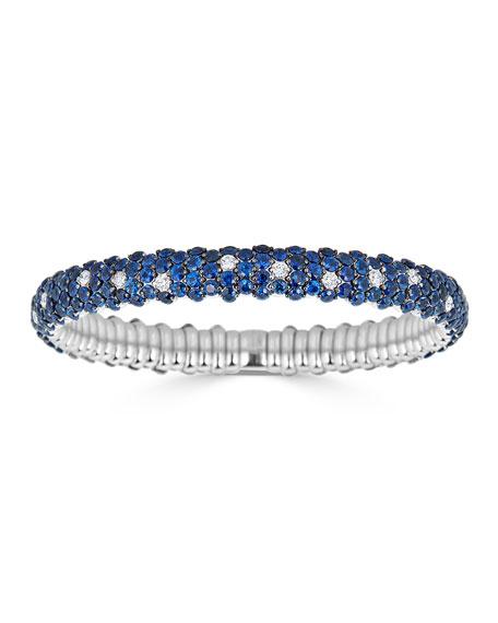 18k Stretch Sapphire & Diamond Bracelet