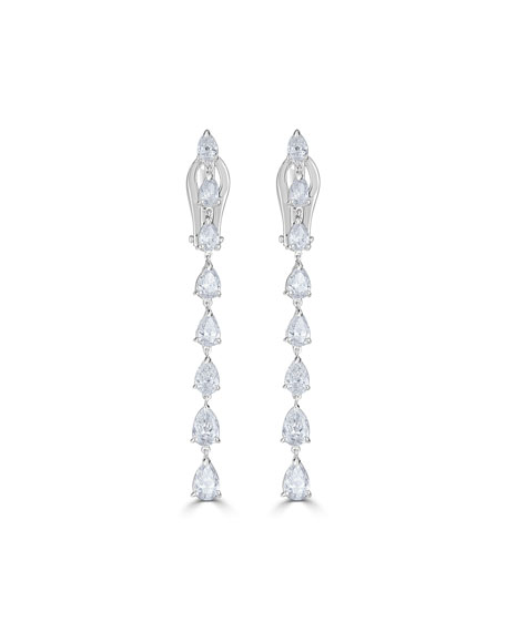 18k Luminal Diamond Dangle Earrings