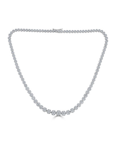 18k Mosaic Graduating Diamond Necklace