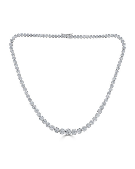 18k Mosaic Graduating Diamond Necklace
