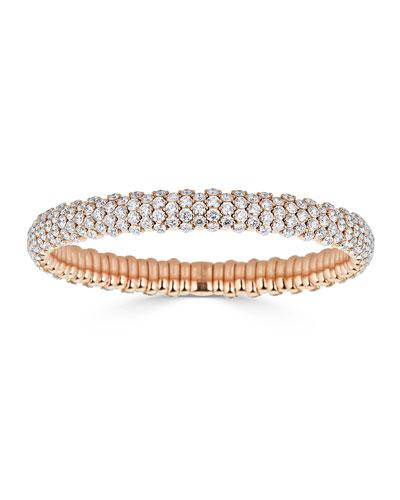 18k Rose Gold Stretch Diamond Bracelet