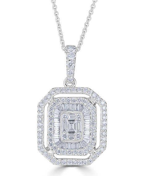 18k Mosaic Diamond Pendant Necklace