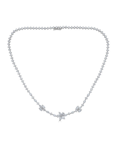 18k Luminal Diamond Flower Necklace