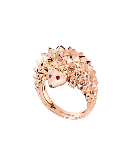 Hans the Hedgehog Rose Gold Ring, Size 51