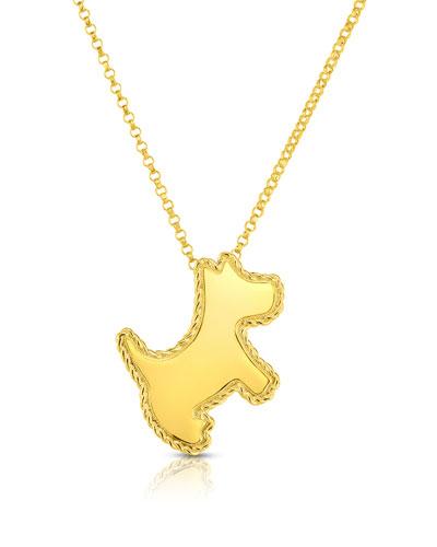 18k Scottie Dog Pendant Necklace