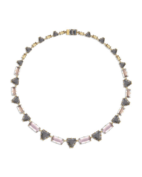 Larkspur & Hawk Caterina Geometric Riviere Necklace, Fawn