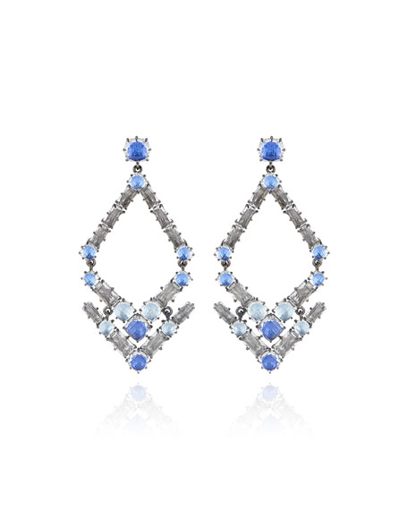 Caterina Trapezoid Earrings, Blue