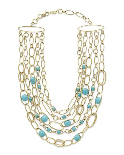 18k Nova Turquoise Collar Necklace