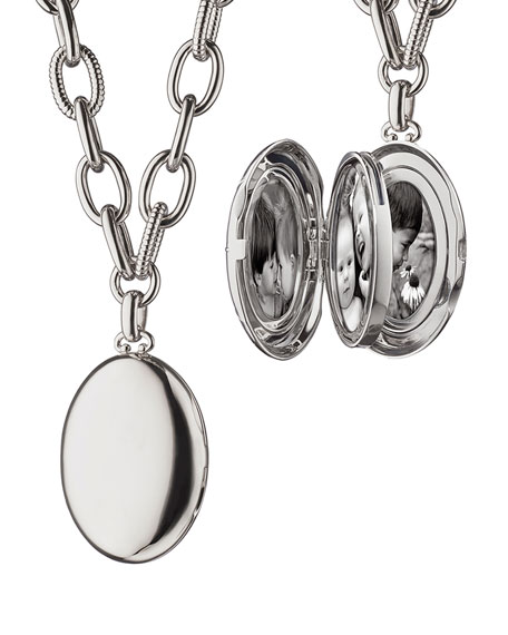 Premier Sterling Silver Locket Necklace, 18""