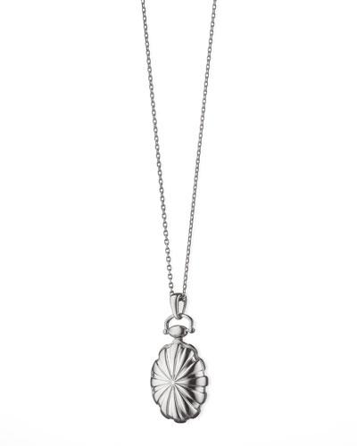 Petite Sunburst Locket Necklace