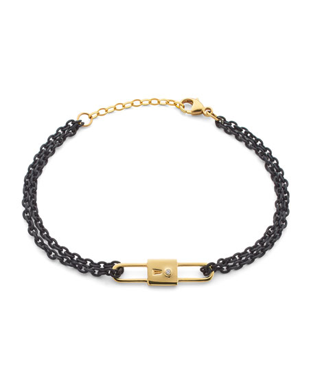 Monica Rich Kosann 18k Yellow Gold Chain Lock