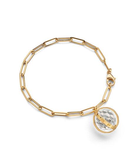 Carpe Diem Charm Bracelet in 18K Yellow Gold